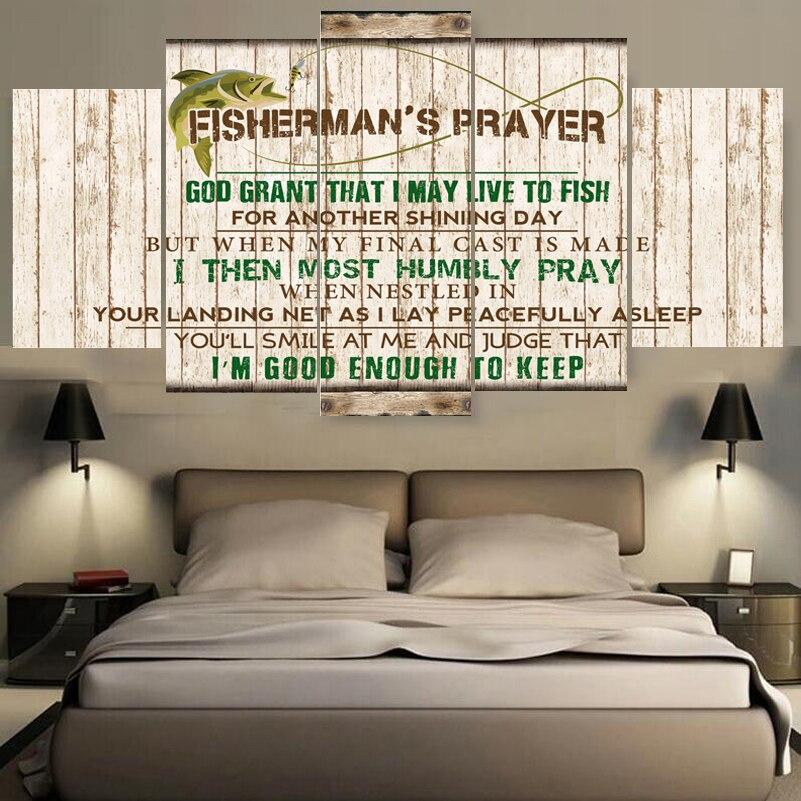 Hd Cetak Kanvas Larangan Memancing Poster Dekorasi Rumah Dibingkai Lukisan Untuk Ruang Tamu R Tidur Gratis Pengiriman Di Painting Calligraphy