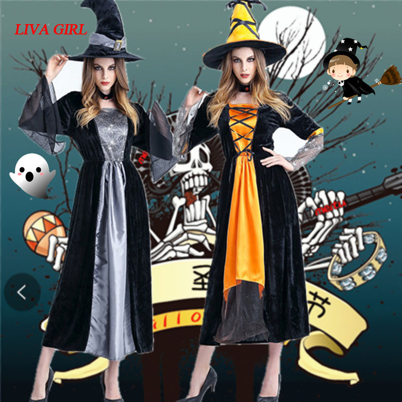 Women Halloween Cosplay Costume medieval Renaissance adult witch Gothic queen of vampire Fancy Dress Girls Outfit