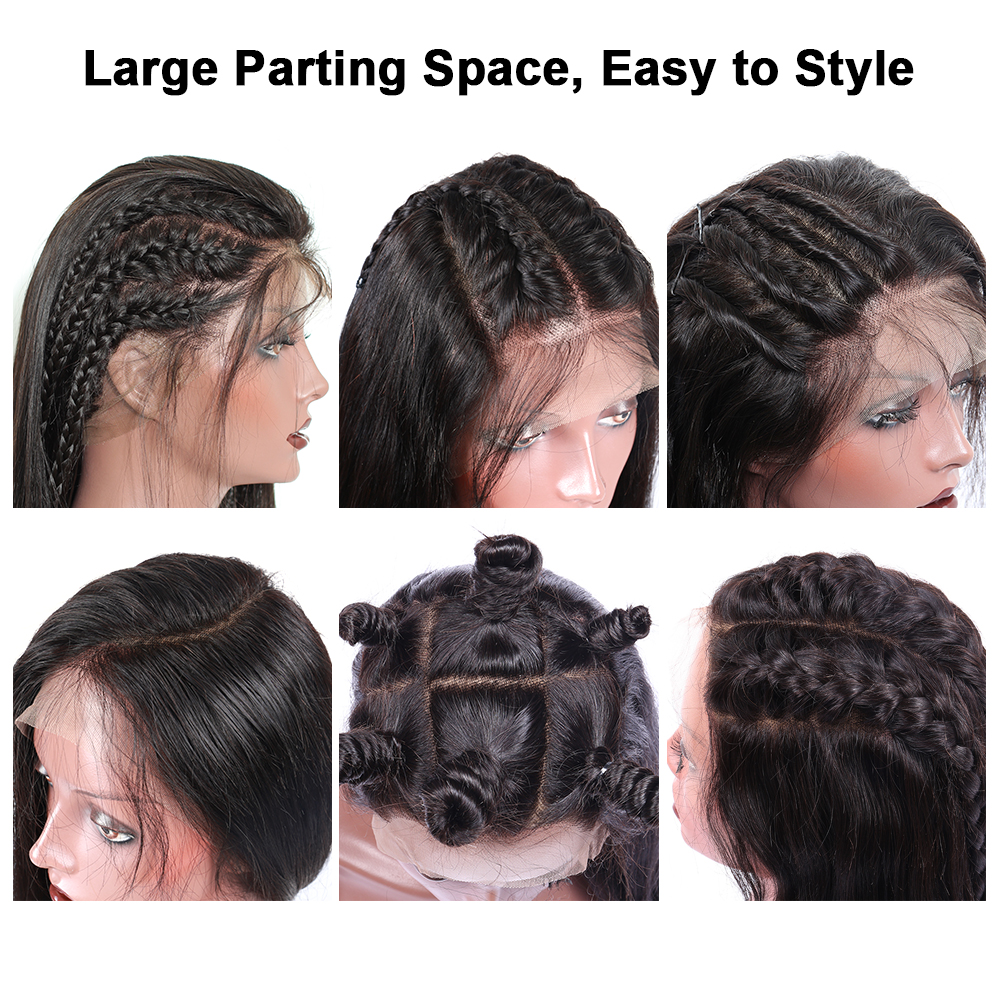 250% Density Lace Front Human Hair Wigs For Women 13x6 Lace Front Wig Loose Wave Brazilian Wig Natural Black Sunny Queen Remy