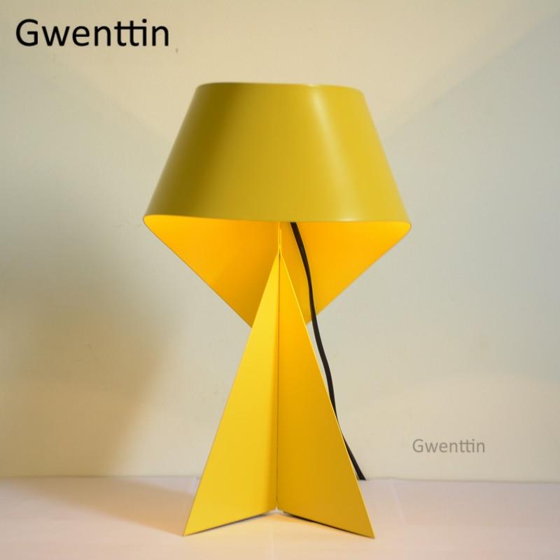 Modern Cartoon Origami Table Lamp Led Stand Iron Desk Light For Children  Room Bedroom Study Lamp Home Decor Lighting Fixtures