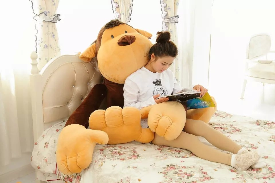 super huge new creative monkey toy big plush long arm orangutan doll gift about 150cm 0117