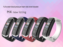 DW-Wogesup New M4 Smart Watch Men Dynamic Static Heart Rate Blood Pressure Band Waterproof Fitness Tracker Woman Bracelet