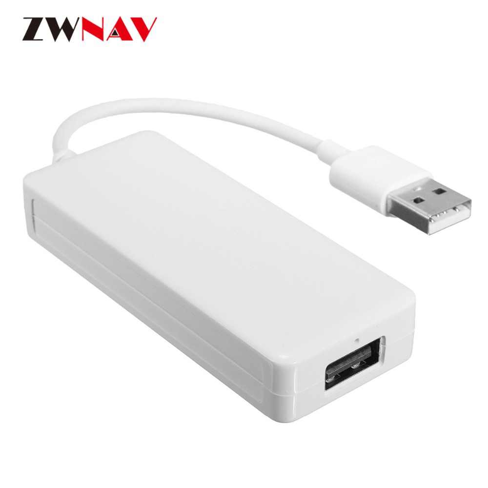 Zwnav carplay para apple android usb dongle carplay carro navi unidade central usb dongle auto com controle de tela toque plug and play