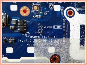Image 3 - Q5WV8 LA 8331P สำหรับ Acer Aspire V3 551 V3 551G เมนบอร์ดแล็ปท็อปสำหรับ Acer Aspire V3 551 NV52 เมนบอร์ด DDR3 100% ทดสอบ