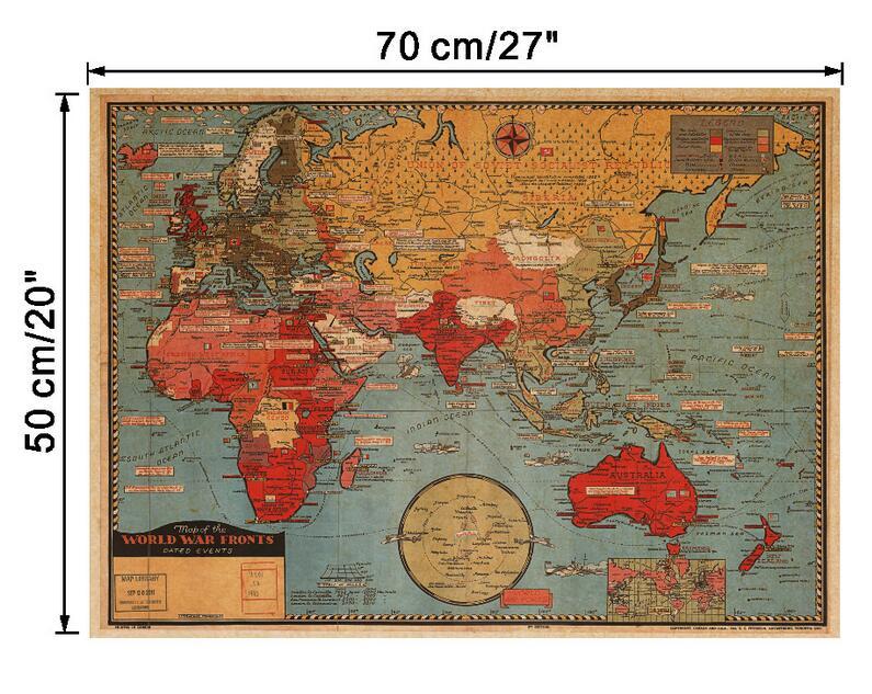 μεγάλος κόσμος Γεωγραφία χάρτης - Διακόσμηση σπιτιού - Φωτογραφία 3