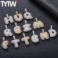 TYTW HIGH Quality Letter Name HIP HOP MEN Women Pendant Fashion Silver Necklace B,C,D,E,F,G H,I,J A to Z Street Dancing Charm