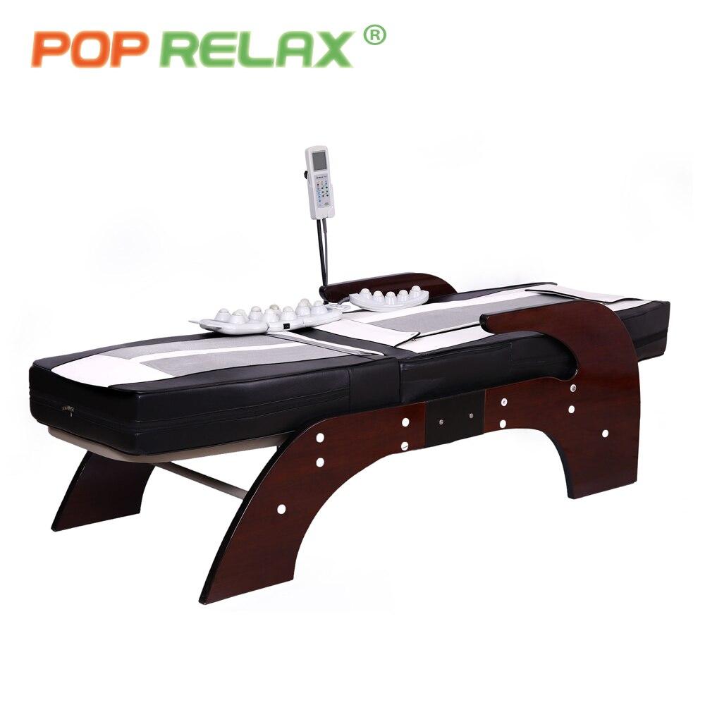 POP RELAX Корея массажная кровать цвета нефрита Электрический нагревательный Нефритовый камень позвоночника расслабляющий массажер здоровье