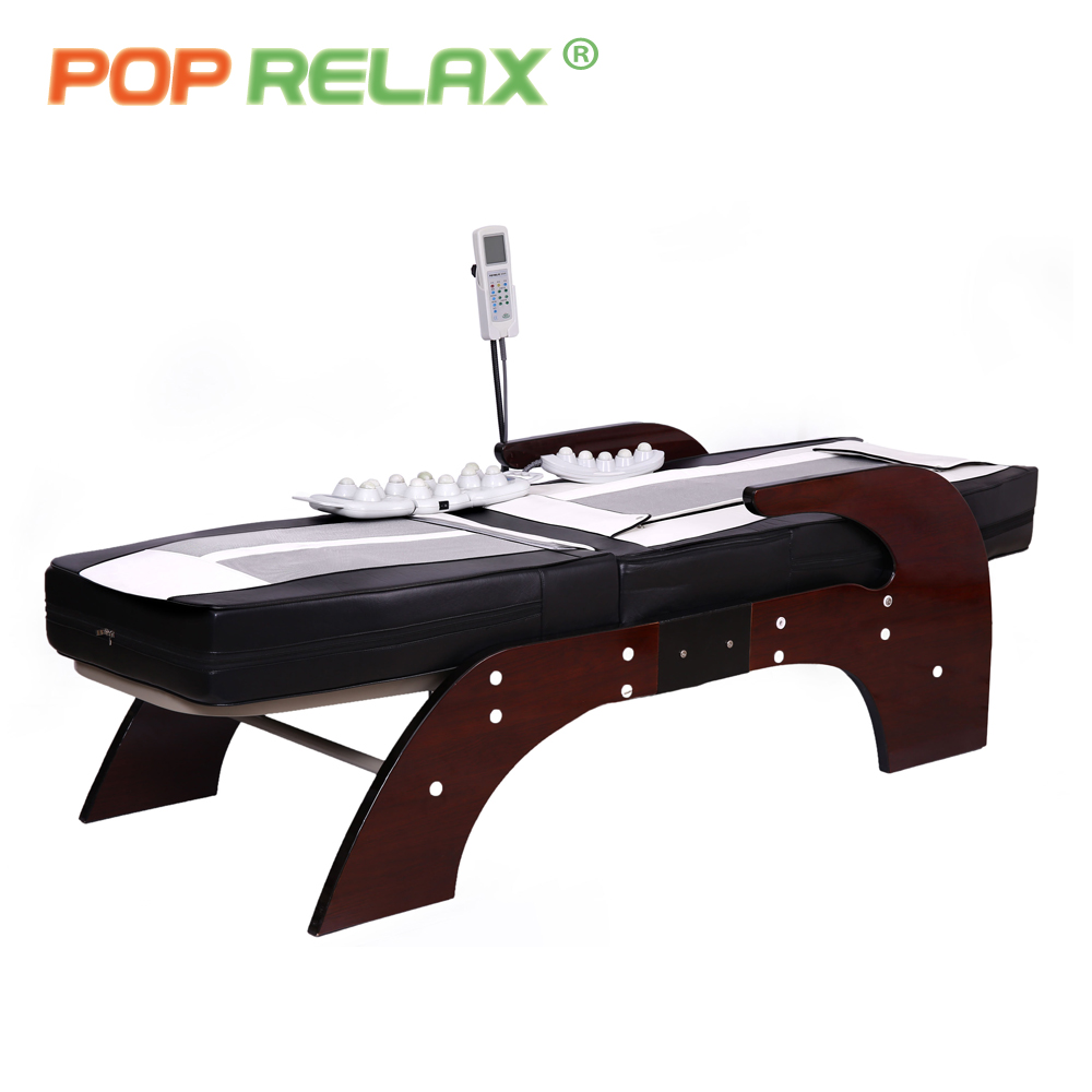 POP RELAX Korea Jade massage bed electric heating jade stone spine relax massager health care full body rolling massage bed pop relax electric vibrating massager vibrator red light heating therapy body relax handheld massage hammer device massager