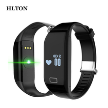 HLTON Waterproof Heart Rate Wristband Fitness Calorie Sleep Tracker Passometer Smart Bluetooth Watch Bracelet For IOS Android