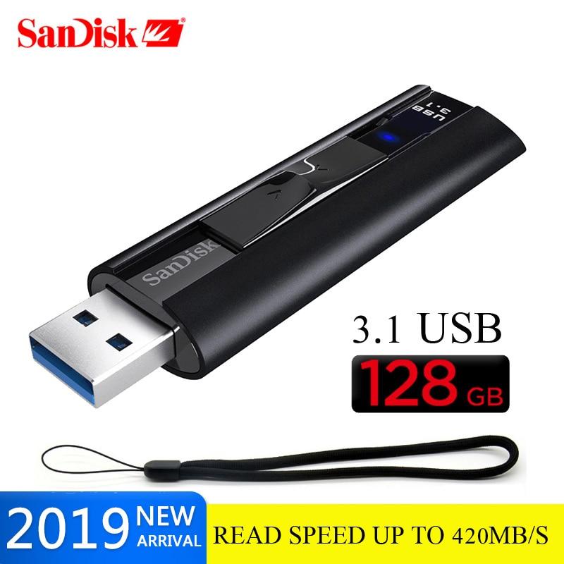 Clé USB 3.1 d'origine SanDisk Extreme PRO 128 go 420 go 128 mo/s mémoire Flash usb 256 go go lecteur de stylo U clé mémoire disque