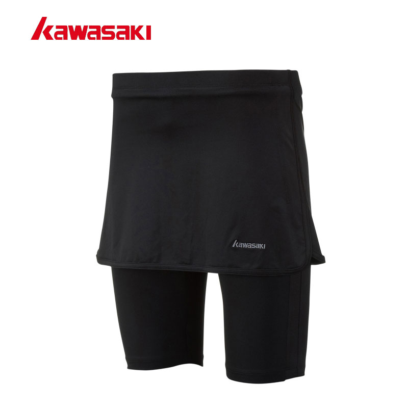 Kawasaki Women's Tennis Skirt Badminton Skorts Outdoor Fitness Gym Running Sports Skirts for Girls with Safety Pants SK-172706