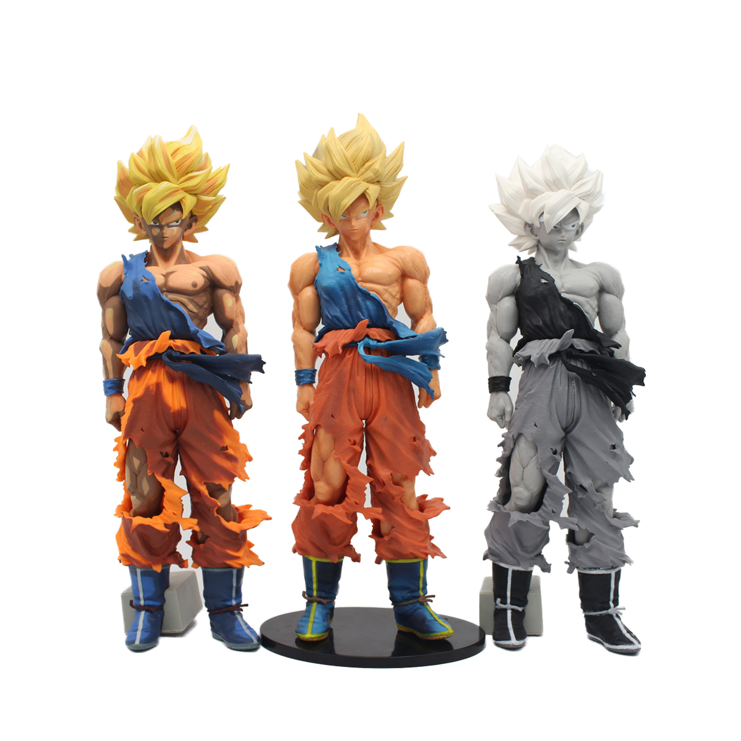 Dragon Ball Z 34 cm Dragon Ball Son Goku MSP Kakarotto Super Saiyan bataille dégâts figurine jouets poupées
