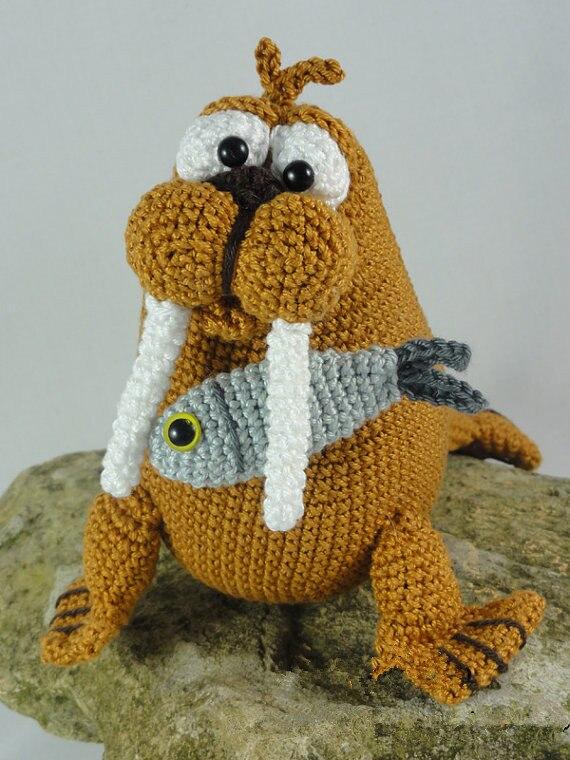 Amigurumi Crochet Walter le morse hochet poupée jouet