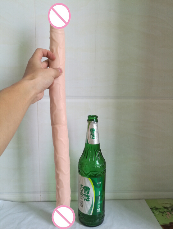 HOWOSEX Double Dildo super long 22 5 Inch Flexible Soft penis Vagina and Anal Women Gay Lesbian Double Ended Dong Sex Toy in Dildos from Beauty Health
