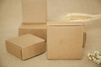 300pcs 12*12*4.5cm Aircraft Brown Gift Packaging Kraft Paper Box For Jewelry\Wedding\Candy\Crafts\Handmade Soap Packing boxes