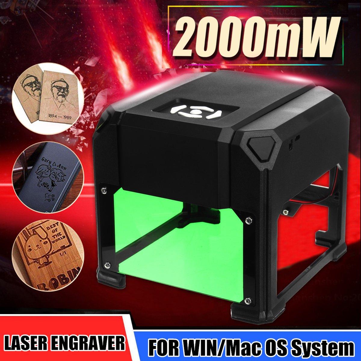 New Upgraded 2000mW USB Laser Engraver Printer Cutter