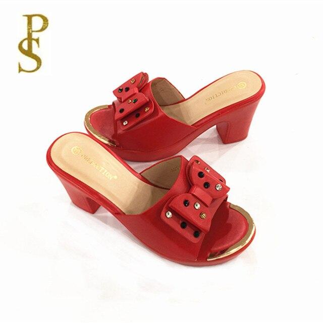 Alta tacco alto della signora pantofole pattini di estate di vendita calda