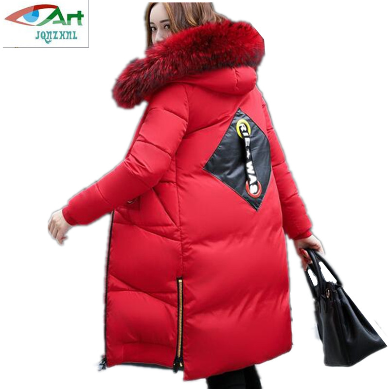2017 Winter new Korea Eiderdown cotton women mid-thick thick warm hooded fur collar fashion Cotton clothing jacket AS314 JQNZHNL цена и фото