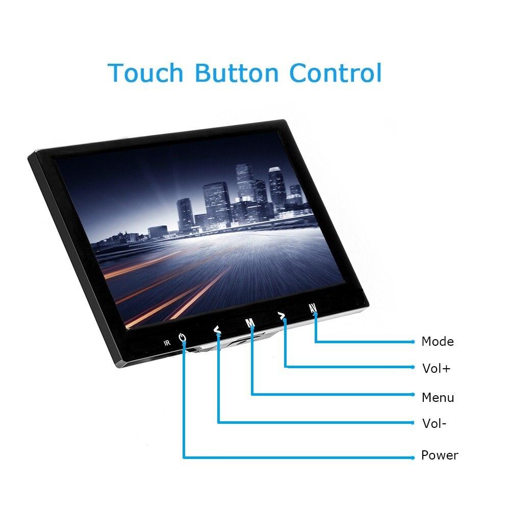 4:3 8 pouces TFT LCD Couleur écran vidéo CCTV écran HDMI VGA BNC Entrée AV pour PC CCTV Sécurité et Stand écran rotatif