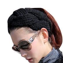 Перевозка груза падения Женщины Крючком Твист Ободки Продаются Корейской Моды Ободки Для Женщин Зима Волосы Группа Аксессуары LY