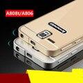 2016 lenovo a806 case moda premium de aluminio y acrílico pc back bolso del teléfono fundas estuches para lenovo a8 a806 a808t nueva