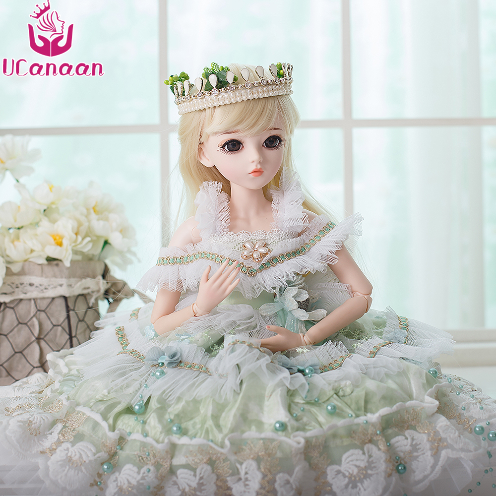UCanaan BJD Dolls SD Doll Makeup Wedding Party Dress Wigs Shoes 18 Joints  Body Beautiful Dream Toys for Girls Reborn Girls 60CM a93c063362a6