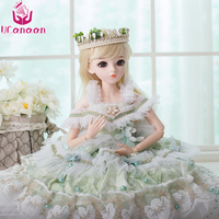 UCanaan BJD Dolls SD Doll Makeup Wedding Party Dress Wigs Shoes 18 Joints Body Beautiful Dream Toys for Girls Reborn Girls 60CM