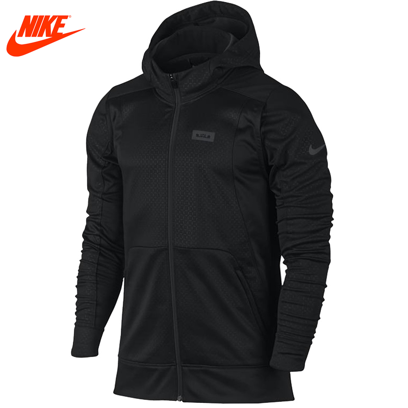 Authentic Nike men's LeBron James sports windproof hooded Black jacket баскетбольные кроссовки nike lebron 12 lebron james