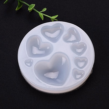 3D Silicone Resin Jewelry Mould Big and small heart handmade DIY Making tool epoxy necklace pendant resin