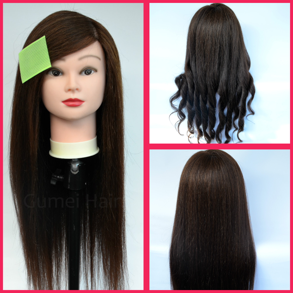 70cm long hair mannequin head professional styling head maniquies women Dummy Wig Head Manikin Training Head Doll Head Hair