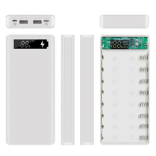 8*18650 Power Bank Case With Digital Display Screen Mobile Phone Charger DIY Shell 5V Dual USB 18650 battery Holder Charging Box цена и фото