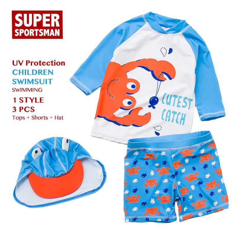 ca16e0de93 Kids Boys UV Protection Cartoon Swimwear Children Swimsuit Toddler Baby  Girls Bathing Swimming Suit Swim Hat