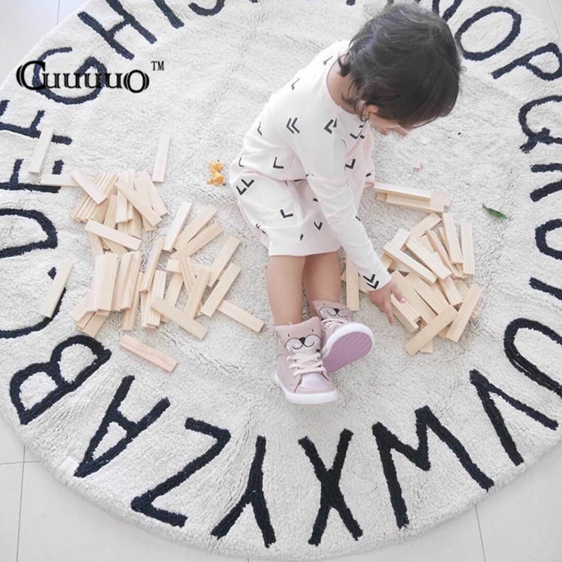 Nordic Style Home Decoration 26 Letters Play Game Mats Decorative Blanket Modern Room Background Carpet Kid Children Gi congminggu chessmen board game flying chess carpet kid classic flight game toy classic puzzle game enjoy family fun gift for kid