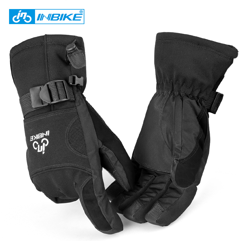 INBIKE Winter Hiking Gloves Men Full Finger Gloves for Cycling Skiing Thermal Outdoor Sports Gloves GW706