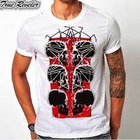 TRUE REVELER Fashion Skull Tshirt For Men print Cool Funny Design Round Neck 100% Cotton Fabric Tops pp