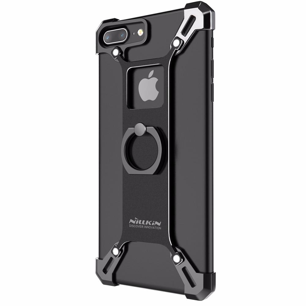 imágenes para Para el iphone 7 plus capa práctico teléfono del soporte de la cubierta de Nillkin de metal resistente Cubierta trasera en forma de anillo de soporte para el iphone 7 más la caja de 5.5 pulgadas