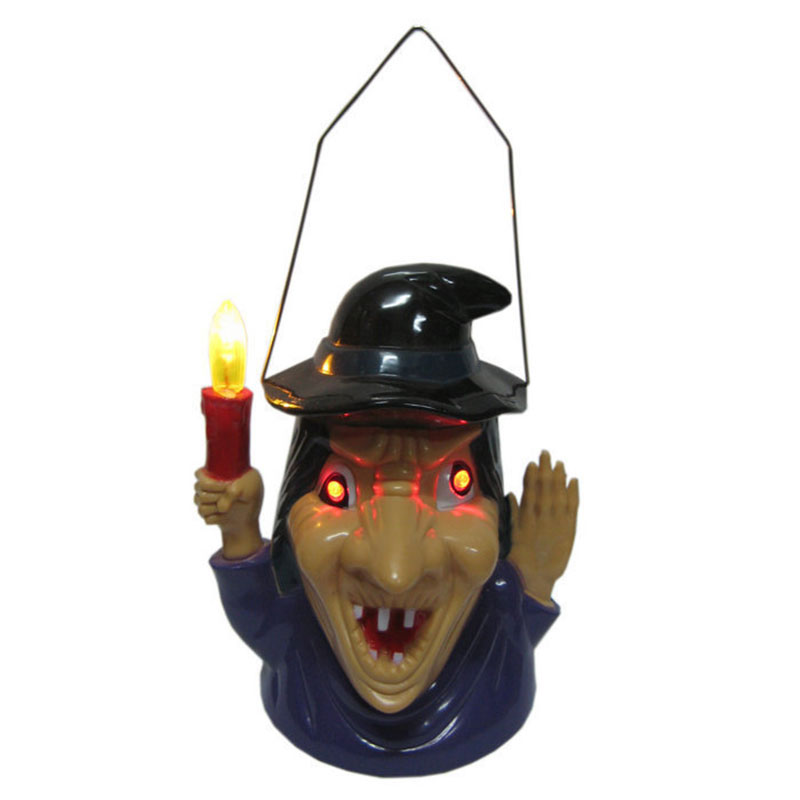 Scary Shouting Lighting Witch Lamp Night Light Halloween Supplies Party Prop