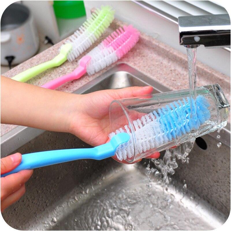 1 UNID Cocina Cepillo De Limpieza Limpiador De Cristales Limpieza Del Hogar Cepi
