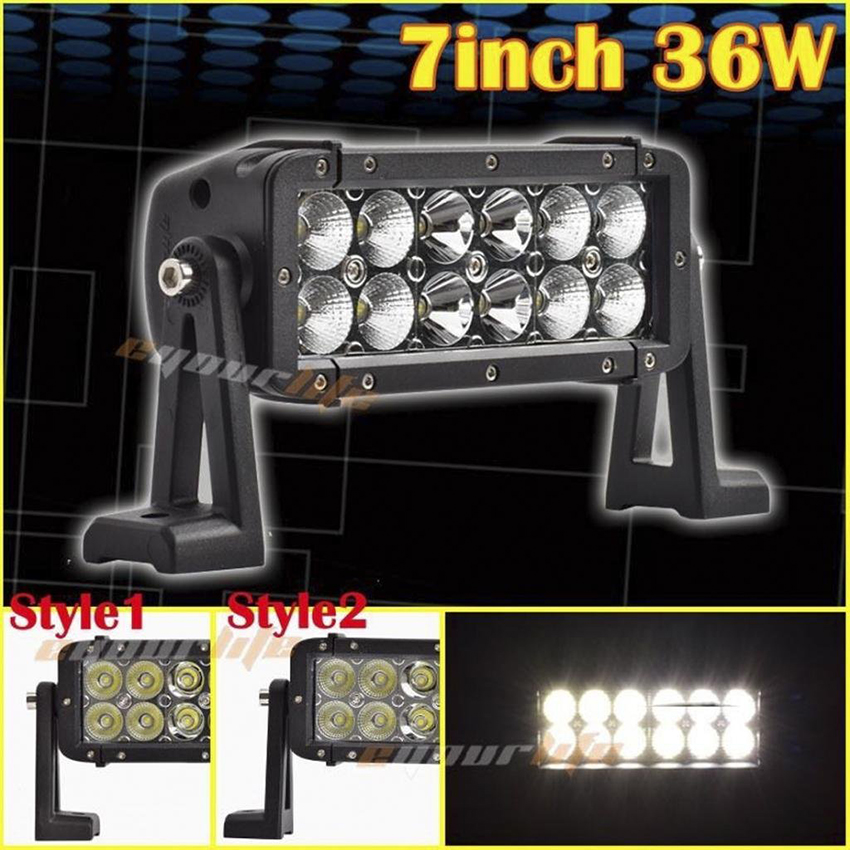 Eyourlife 1pcs Super Bright 7inch 36W LED Off road Driving Headlight Spot Flood Combo Beam 4X4 off road ATV SUV for truck eyourlife 23 25 inch 120w fog lamp spot wide flood beam combo work driving led light bar for offroad suv atv 12v 24v 99