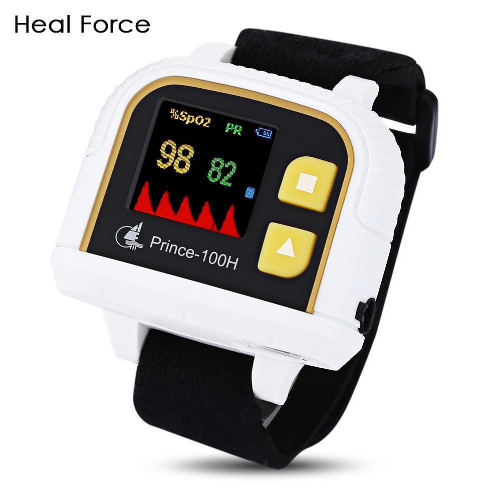 Heal Force Prince-100H OLED Wrist Color Pulse Oximeter Pulsioximetro Blood Pressure Monitor Pulse Oximeter