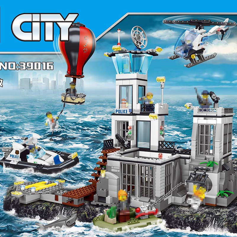 City Street Series Large Building Blocks Sets Maritime Search Rescue Compatible LegoINGLYS City Police Toys for Children 830 Pcs maritime safety