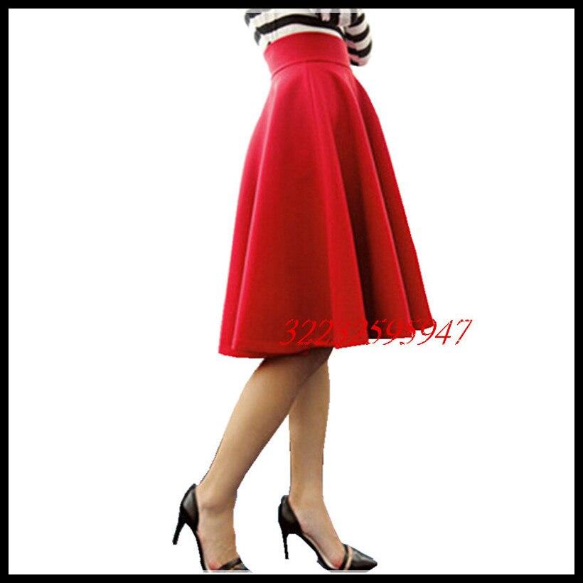 Paige Sukně Space bavlna Podzim Zimní Grown místo Deštník sukně Retro Waisted tělo Sukně Nová Evropa a kód Word skládaný