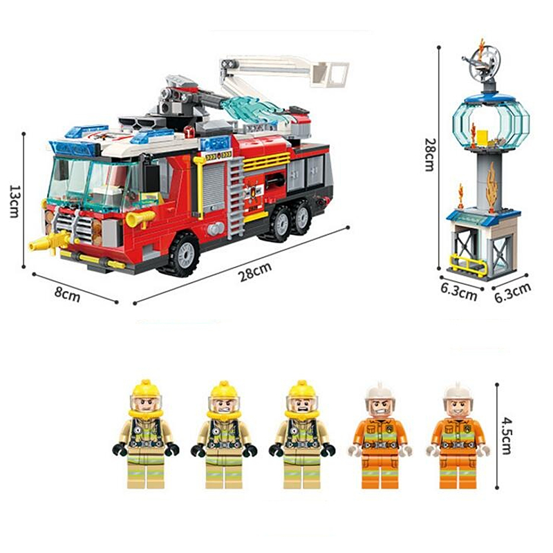 City-Fire-Airport-Rescue-Operation-Spray-Water-Truck-Firemen-Car-Building-Blocks-Sets-Bricks-Model-Kids (3)