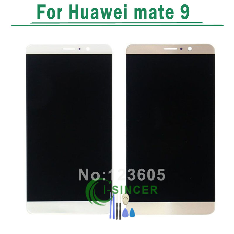 1/PCS For huawei Mate 9 LCD Display with Touch Screen Glass Panel Digitizer Assembly Black/White/Gold +Tools Free Shipping