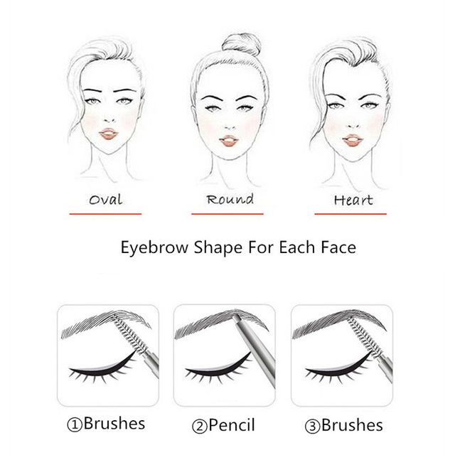 Enhancer Eyebrow Pencil Waterproof Shadow Eyebrow Tattoo Pen & Brush Cosmetics Long Lasting Tint Henna Eye Brow Pen Makeup Tools 3