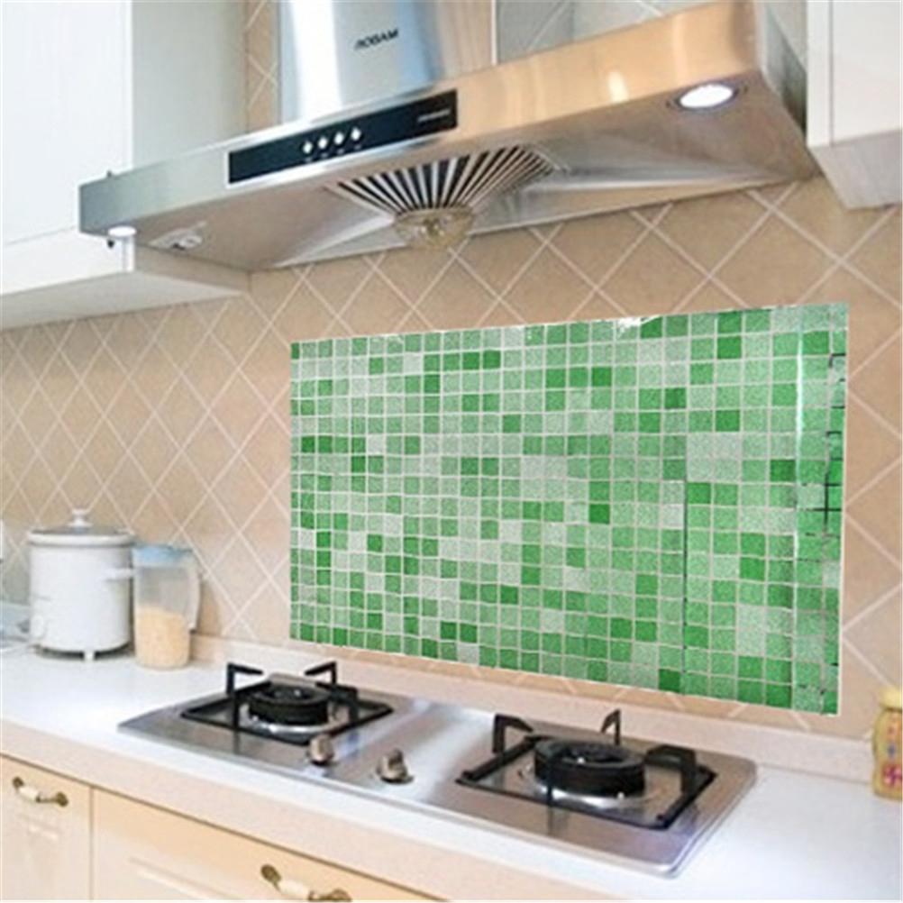 pvc etiqueta de la pared de bao azulejo de la cocina mosaico papel pintado auto