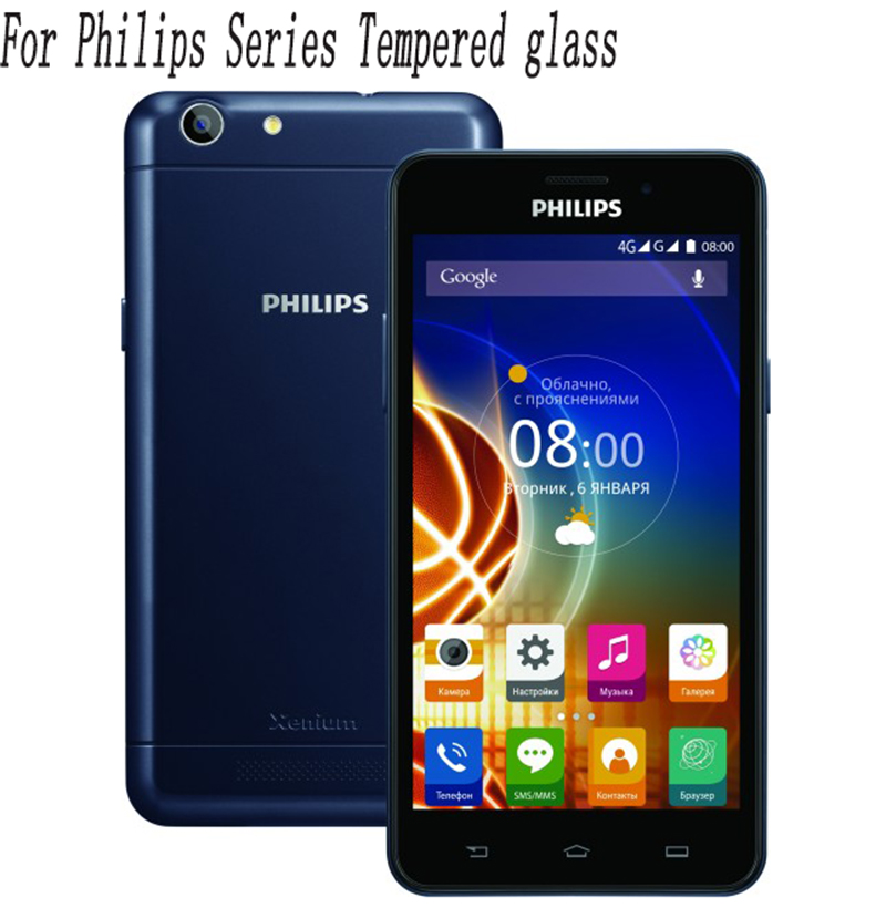 2PCS <font><b>Screen</b></font> Protector For <font><b>Philips</b></font> Xenium X818 V377 V526 X586 <font><b>S326</b></font> X588 V787 S386 S327 S318 S257 Tempered Glass Film Protective image