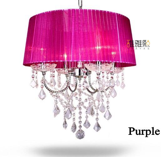 14 barevných lustrových lustrových textilních lampových stínidel moderních křišťálových lustrů