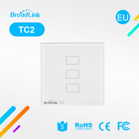 Broadlink 3 Gang TC1 Wireless Remote Control Wifi Wall Light Touch Screen Switch Smart Home Automation