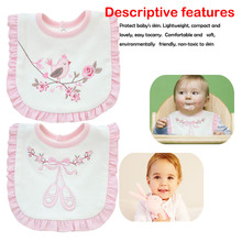 Baby Bibs For Girls 100% Cotton Newborn Princess Lace Bow Cute Boys Burp Cloth Infant Saliva Towels